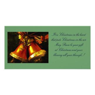 Carte photo de cloches de Noël Photocartes