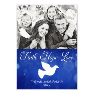 Carte photo de colombe de Noël d'amour d'espoir de