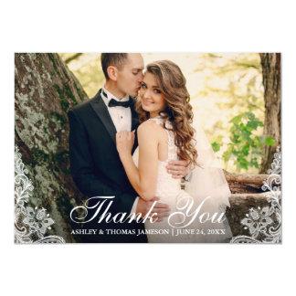 Carte Photo de couples d'équilibre de dentelle de Merci