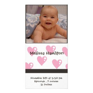 carte photo de faire-part de bébé photocartes personnalisées