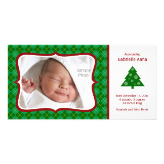Carte photo de faire-part de naissance de Noël Photocartes