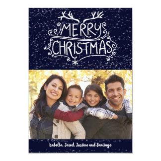Carte photo de famille de Joyeux Noël