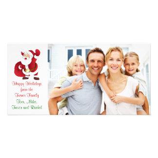 Carte photo de famille de Père Noël de Noël Modèle Pour Photocarte