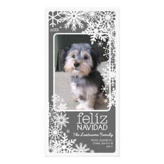 Carte photo de Feliz Navidad : Laissez lui neiger
