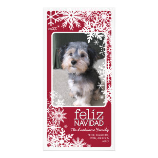 Carte photo de Feliz Navidad : Laissez lui neiger Cartes De Vœux Avec Photo