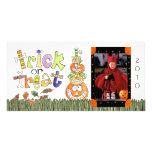 Carte photo de Halloween Photocartes Personnalisées