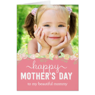 Carte photo de jour de mères de fleur de ressort