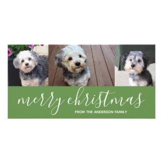 Carte photo de Joyeux Noël avec 3 photos