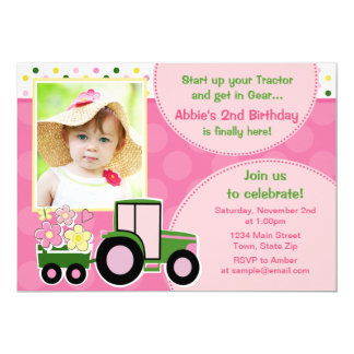Carte photo de l'invitation 5x7 d'anniversaire de