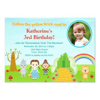 Carte photo de l'invitation 5x7 d'anniversaire de carton d'invitation  12,7 cm x 17,78 cm