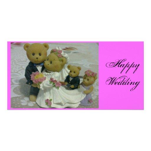 Carte photo de mariage cartes de vœux avec photo