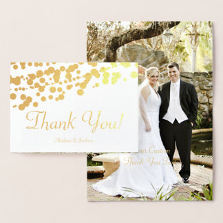 Carte photo de Merci de mariage de calligraphie de