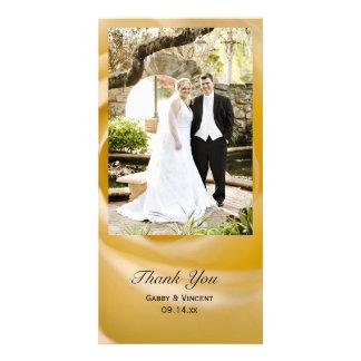 Carte photo de Merci de mariage de fleur de rose
