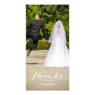 Carte photo de Merci de mariage de photo de la Photocarte Customisée