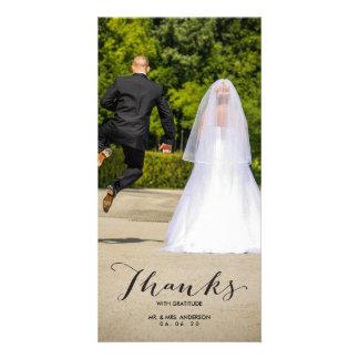 Carte photo de Merci de mariage de photo de la Photocartes
