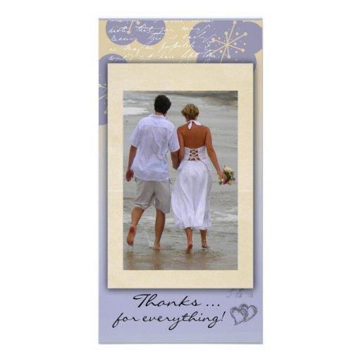 Carte photo de Merci de mariage de plage Photocartes Personnalisées
