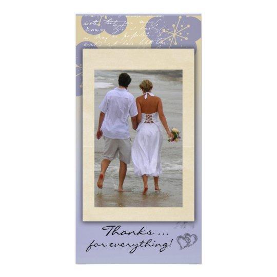 Carte photo de Merci de mariage de plage Photocarte Personnalisée