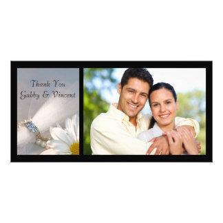 Carte photo de Merci de mariage d'élégance de Photocartes