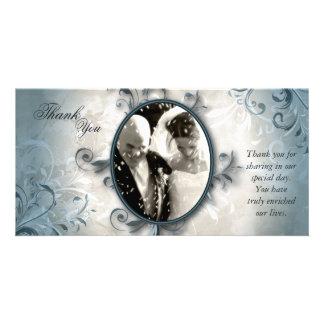 Carte photo de Merci de mariage - feuillage Carte
