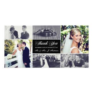 Carte photo de Merci de nouveaux mariés