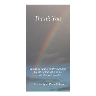 Carte photo de Merci de sympathie de l'arc-en-ciel Photocarte Personnalisée