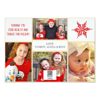 Carte photo de Noël - 4 photos avant et dos