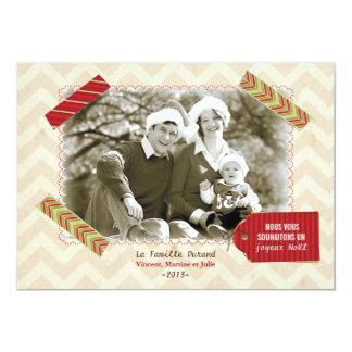 Carte photo de Noël Carton D'invitation 12,7 Cm X 17,78 Cm