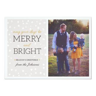Carte photo de Noël de flocons de neige Carton D'invitation 12,7 Cm X 17,78 Cm