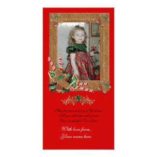 Carte photo de Noël de pain d'épice Photocarte Customisée
