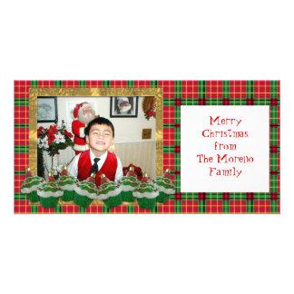 Carte photo de Noël de petits gâteaux Modèle Pour Photocarte