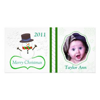 Carte photo de Noël des enfants faits sur commande Photocartes Personnalisées
