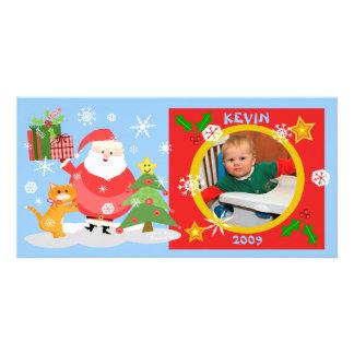 Carte photo de Noël du bébé fait sur commande Carte Avec Photo