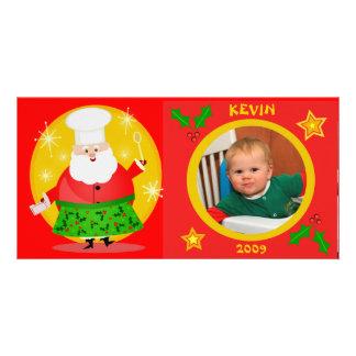 Carte photo de Noël du bébé fait sur commande Photocartes