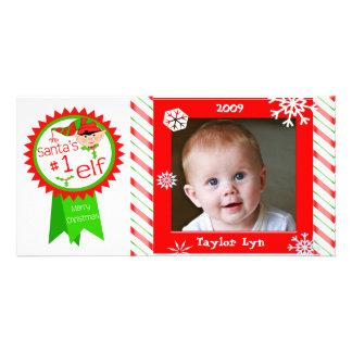 Carte photo de Noël du bébé fait sur commande Photocartes Personnalisées