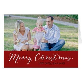 Carte photo de Noël - Joyeux Noël - rouge