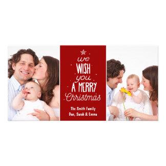 Carte photo de Noël - souhaitez-vous un Joyeux Photocarte