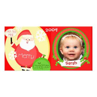 Carte photo de Père Noël de Noël des enfants faits Photocartes
