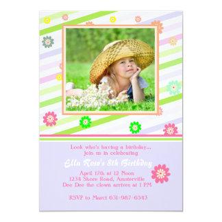 Carte photo de plaisir de ressort carton d'invitation  12,7 cm x 17,78 cm