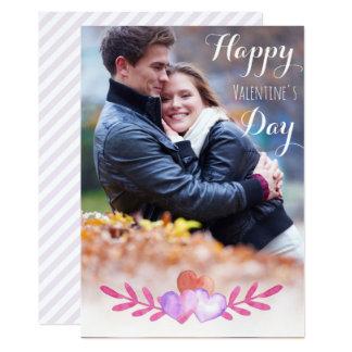 Carte photo de Saint-Valentin Carton D'invitation 12,7 Cm X 17,78 Cm
