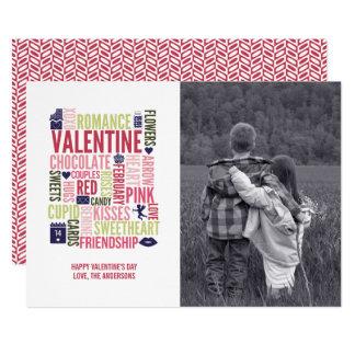 Carte photo de Saint-Valentin de mots de Valentine