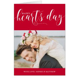 Carte photo de Saint-Valentin du jour du coeur