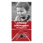 Carte photo de salutation de toile d'araignée de H Modèle Pour Photocarte