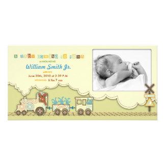 Carte photo de train de Choo Choo Photocartes Personnalisées