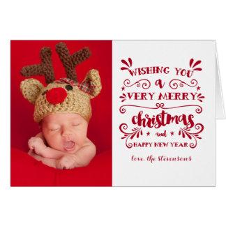 Carte photo de typographie de Noël très Joyeux