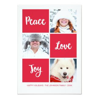 Carte photo de vacances d'amour et de joie | de