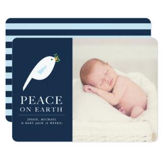Carte photo de vacances de colombe de paix