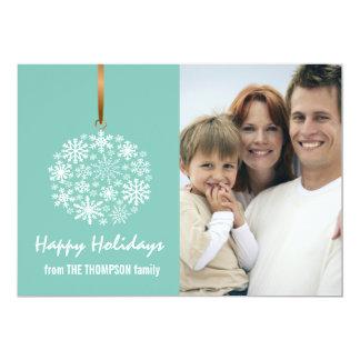 Carte photo de vacances de Noël de flocon de neige Carton D'invitation 12,7 Cm X 17,78 Cm