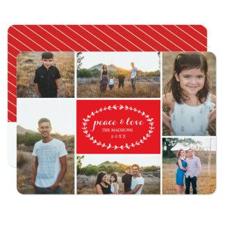 Carte photo de vacances de paix et d'amour carton d'invitation  12,7 cm x 17,78 cm