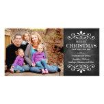 Carte photo de vacances de tableau de Joyeux Noël Photocarte