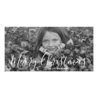 Carte photo de vacances - Joyeux Noël manuscrit